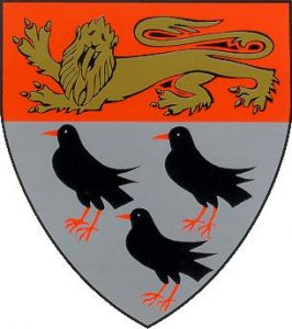 Canterbury crest with 3 choughs